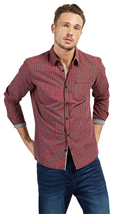 ray soft fil a fil check shirt - by Tom Tailor - 35.99