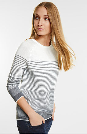 cecil - Knitted stripe sweater - 39.99